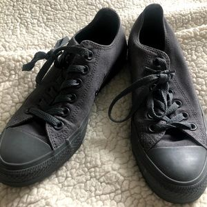 All Grey Converse Sneakers - Womens 7 Mens 5